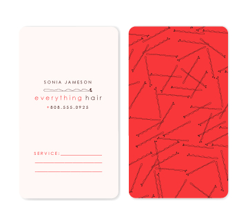 business cards - pin by Marabou Design