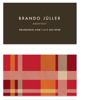 business cards - Savant Plaid by Yolanda Mariak Chendak