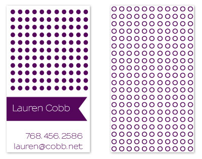 business cards - Polka Fun by Seven Design Boutique