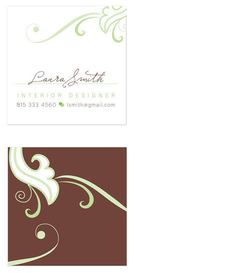 business cards - swirled by Whimsical Wedding Invitations