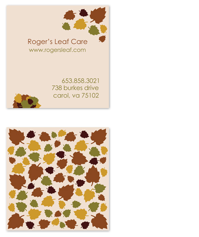 business cards - Fallen Leaves by Seven Design Boutique