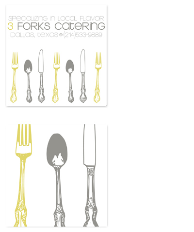 business cards - Silverware Catering by l