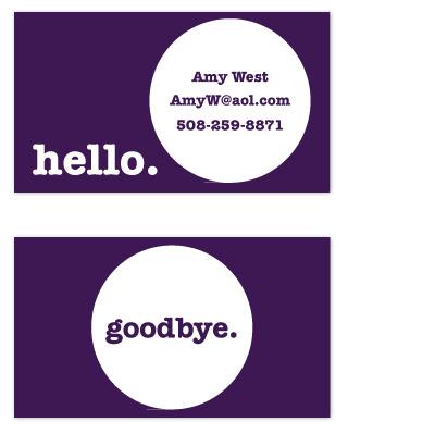 business cards - hello. by Christine Arrigo