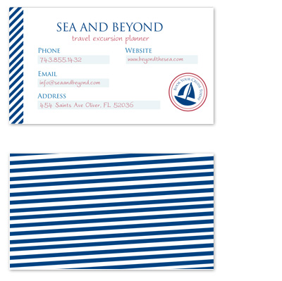 business cards - Beyond the Sea by Seven Design Boutique