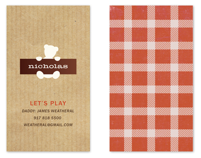 business cards - fave teddy by nocciola design