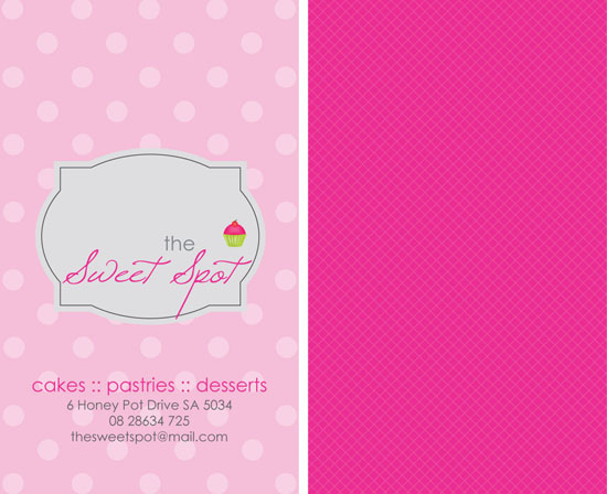 business cards - the sweet spot by jot and scribble