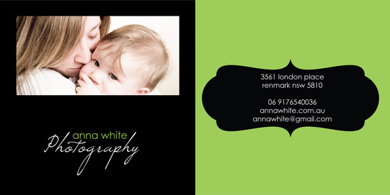 business cards - Anna Whita Photography by jot and scribble