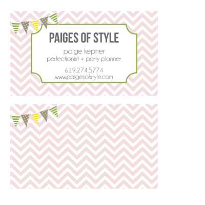 business cards - Oh Happy Day! by Paige Kepner