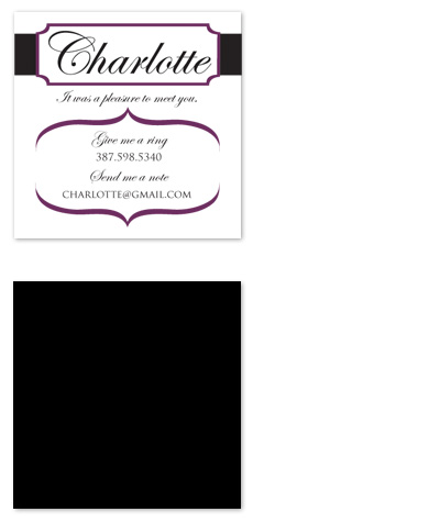 business cards - Classy Lady by Seven Design Boutique