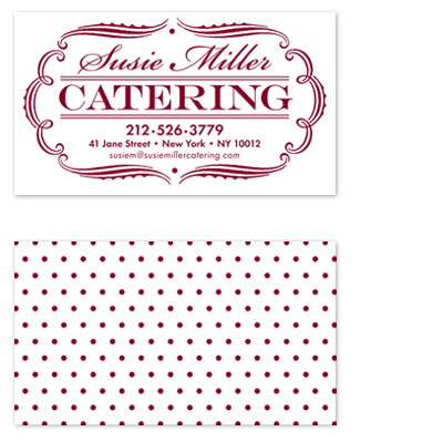 business cards - Catering by Bob Bianchini
