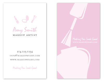business cards - Makeup Business Card by MelStudio