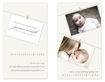 business cards - Photographer's Line Up Business Card by MelStudio