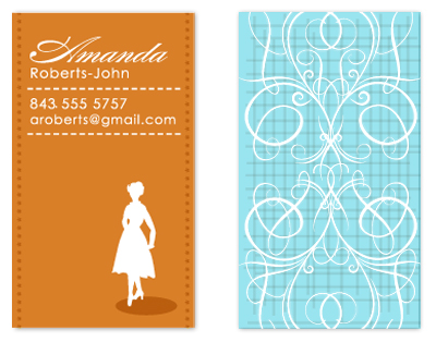 business cards - Simple & Sophisticated Lady by FreeBraveLovely
