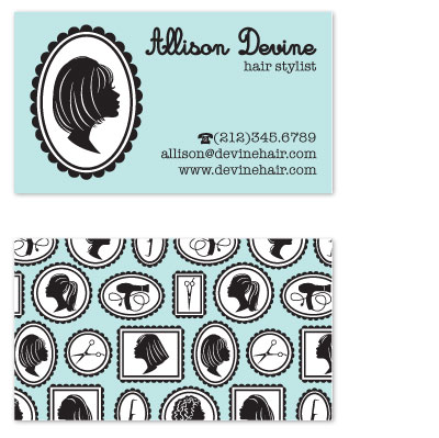 business cards - Modern Cameo by Alisse Catherine