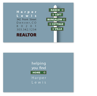 business cards - helping you find home. by tucker-halm design