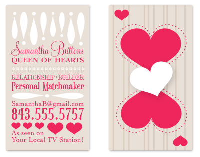 business cards - The Queen of Hearts by FreeBraveLovely