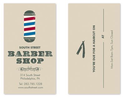 business cards - Time for a Trim by i heart design studio