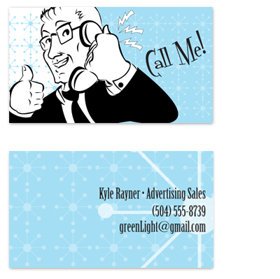 business cards - Ad Man by Peter M. Vasquez