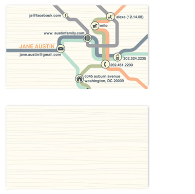 business cards - social transit by Cheryl Nachbauer