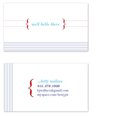 business cards - Nautical but Nice by Nightingale Press