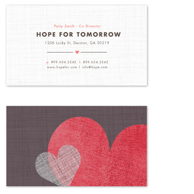 business cards - Open Hearts by Kristen Smith