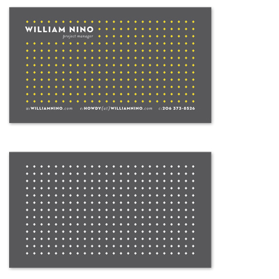 business cards - Plus Grid by Jay F. Martinez