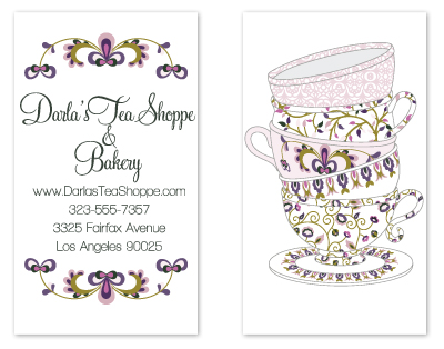 business cards - Tea Cup card by Caitlin Lamb