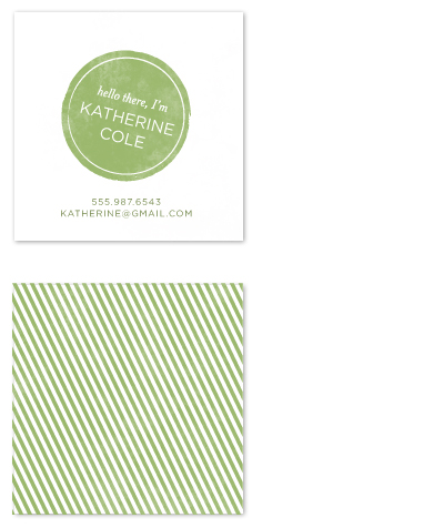 business cards - Stamp + Stripe by Lauren Chism