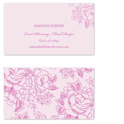 business cards - Elegant Florals by Kimberly FitzSimons