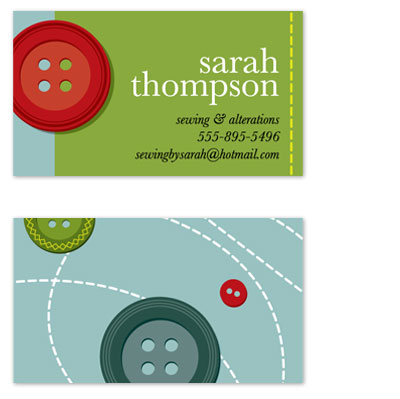 business cards - Who's Got The Button? by Carrie Benes