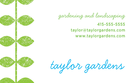 business cards - Sweet garden by Tracy White Taylor
