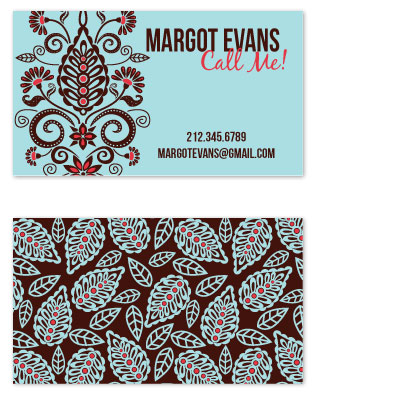 business cards - Delightful Damask by Alisse Catherine