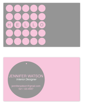 business cards - Circles Galore  by that girl Shelley