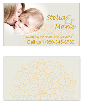 business cards - Mommy and Me play date by Gayletrini