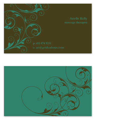 business cards - flourish by Rachel Beser