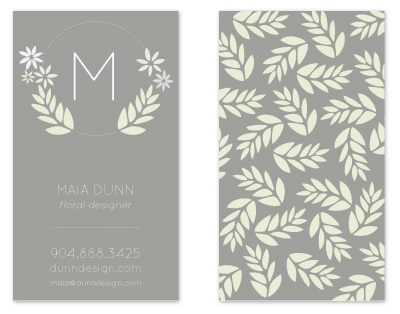 business cards - Lovely Floral Initial by rachelle