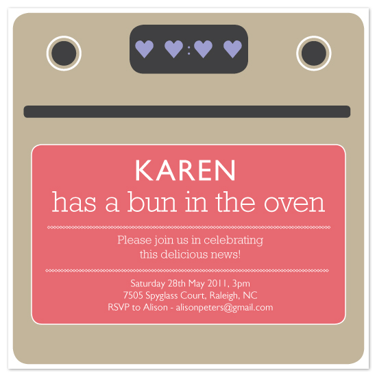 shower invitations - Bun in the oven by Sabrina Russo