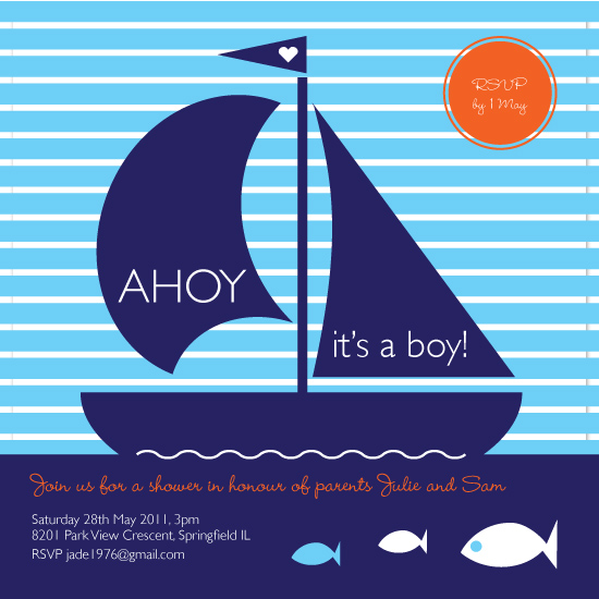 shower invitations - Ahoy by Sabrina Russo