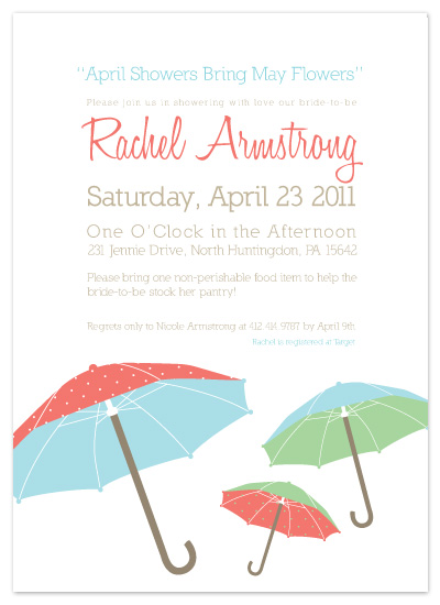 shower invitations - April Showers by Penelope Poppy