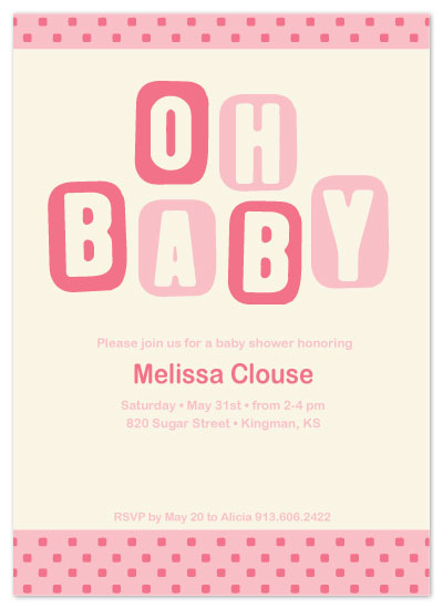 shower invitations - Oh Baby by Alicia Dean