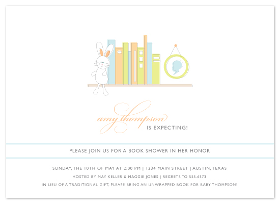 shower invitations - Bring a Book by Fig and Cotton