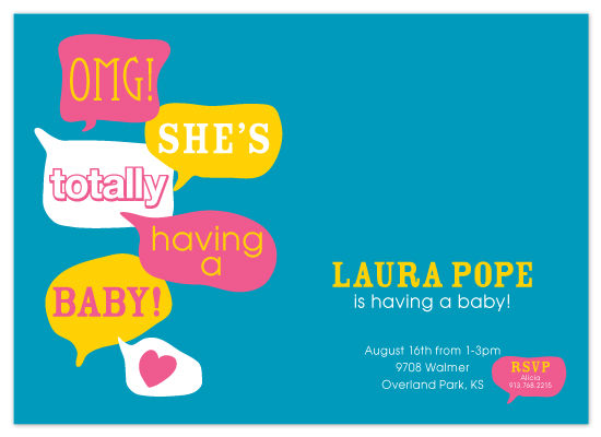shower invitations - OMG! She's Having a BABY! by Alicia Dean