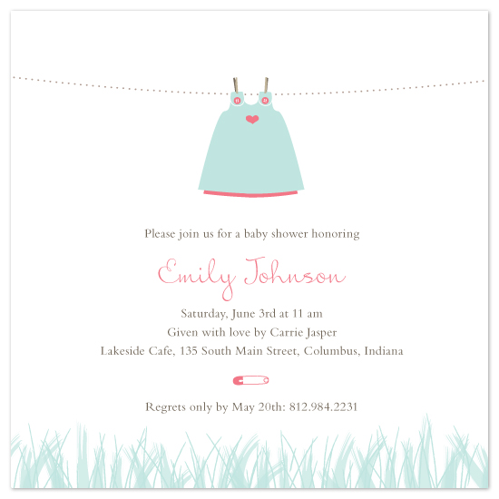 shower invitations - Dress on Line by Ink Swell
