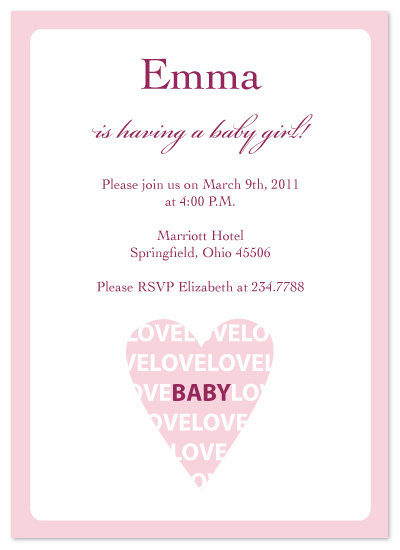 shower invitations - I Heart Baby by Laura Elizabeth Designs