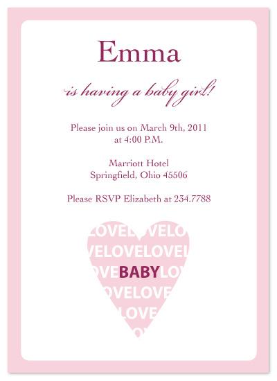shower invitations - I Heart Baby by Laura Elizabeth Designs