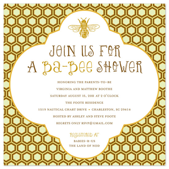 shower invitations - Honeycomb Ba bee Shower by Ashley Foote