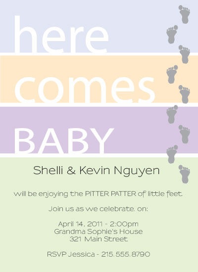shower invitations - Tiny Toes by Ms. P
