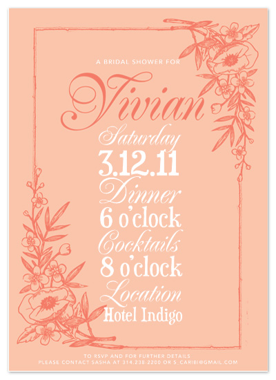 shower invitations - Antique Floral Flair by Katie Kemp