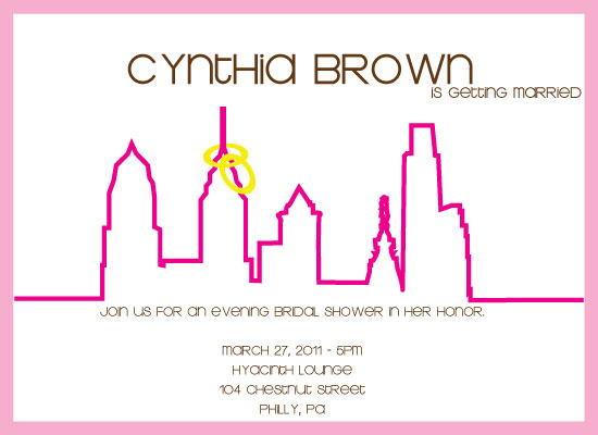 shower invitations - Skyline by Ms. P