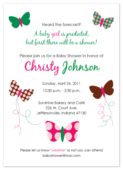 shower invitations - Weather Prediction by melmade